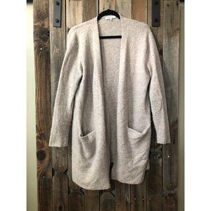Grey/Tan Long Madewell Cardigan Sweater